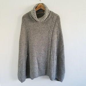 Soft Surroundings Chunky Knit Shrug Poncho Sweater